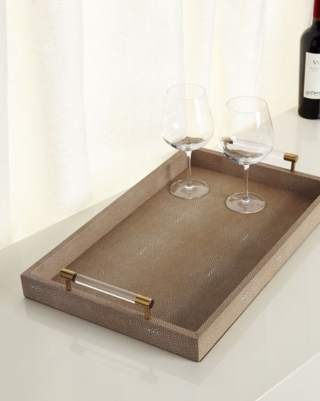 Faux Shagreen Tray from Horchow