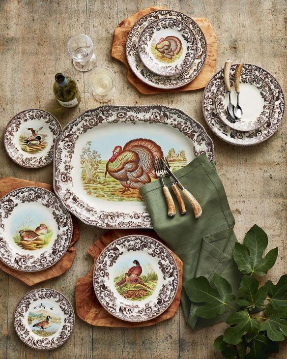 Spode plates via Neiman Marcus