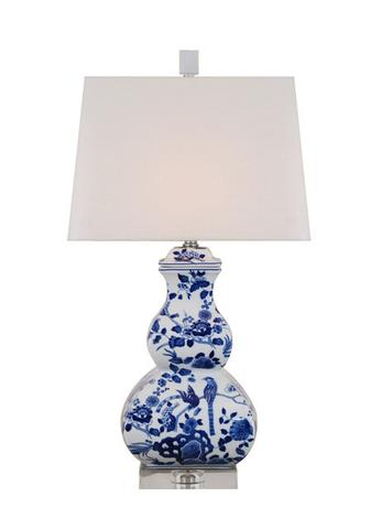 Blue and white Floral Lamp Society Social