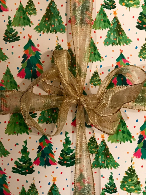 Caspari gift wrap for The Potted Boxwood 12