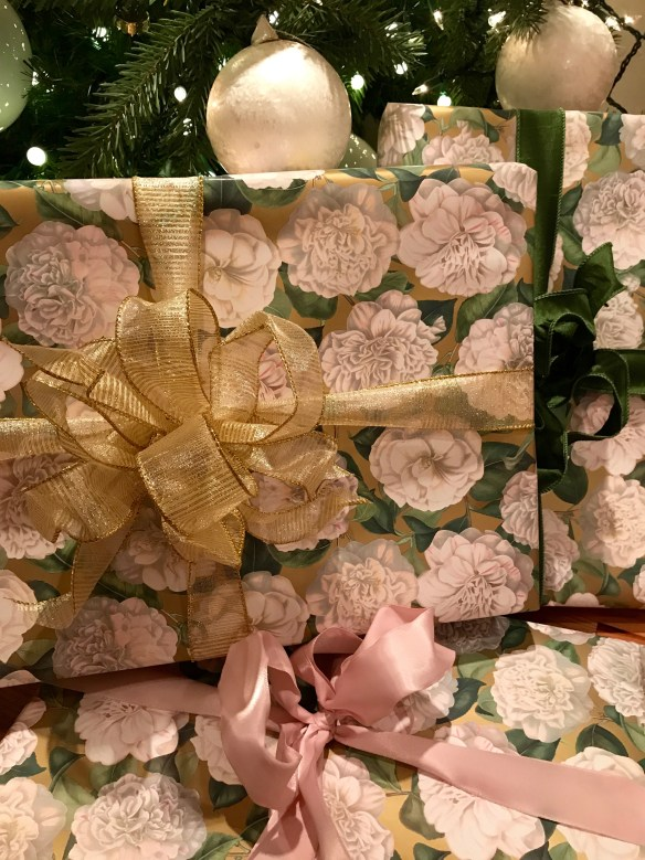 Caspari gift wrap for The Potted Boxwood 18