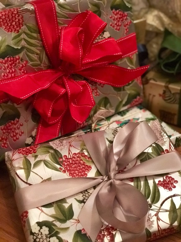 Caspari gift wrap for The Potted Boxwood