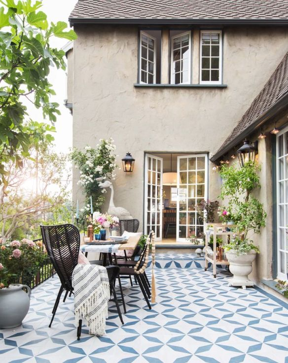 patterned outdoor patio house beautiful