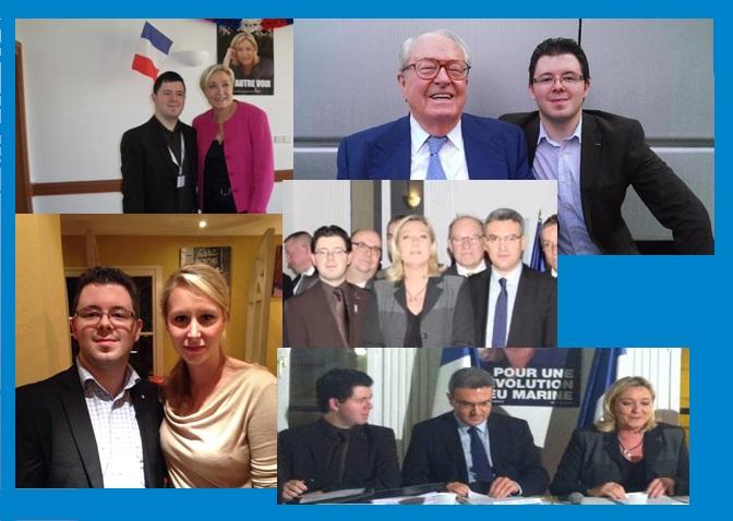 Adrien Desport et les Le Pen.