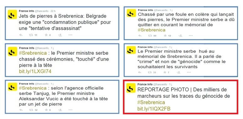 France Info sur Srebrenica.