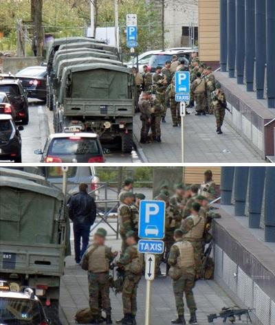 Armée aux abords gare du Midi Bruxelles !