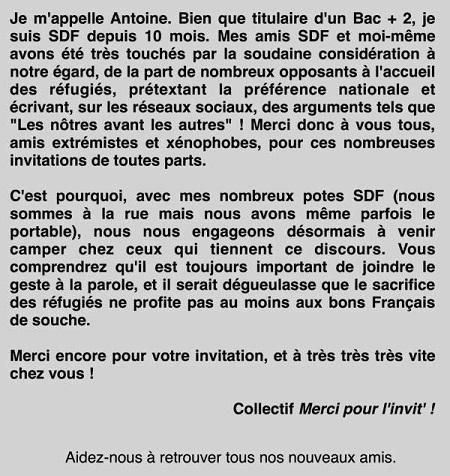 Antoine, SDF, et ses nouveaux amis - ThePrairie.fr !