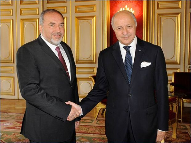 Avigdor Liberman - Laurent Fabius