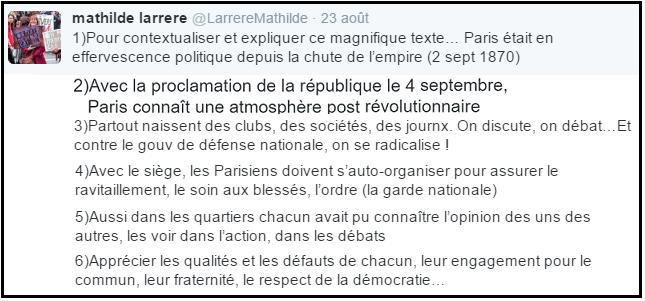 Tweeter Mathilde Larrere - Contextualisation - ThePrairie.fr !
