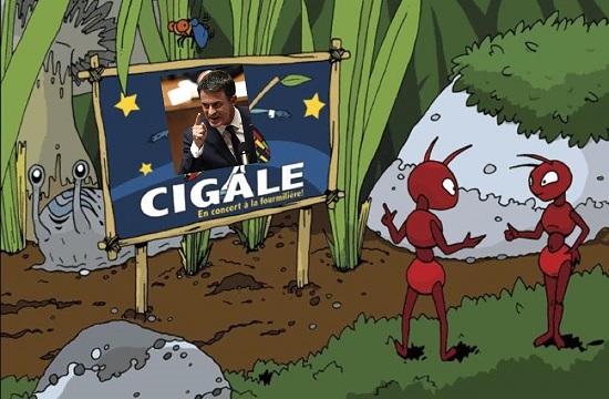 Valls - La Cigale et la Fourmi - ThePrairie.fr !