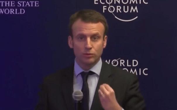 Macron, Davos, 22 01 2016 - ThePrairie.fr !