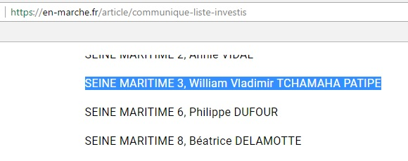 William Tchamaha - Investiture En Marche - ThePrairie.fr !