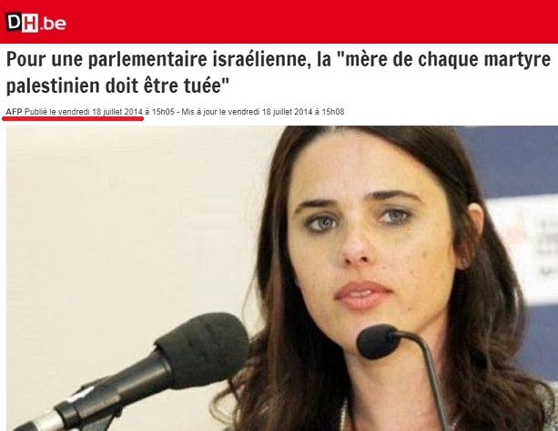 AFP - Ayelet Shaked - 18 juillet 2014 - ThePrairie.fr !