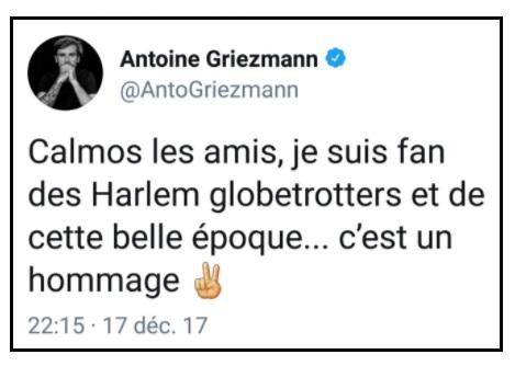 "Tweet Griezmann ""Calmos les amis"" - ThePrairie.fr !"