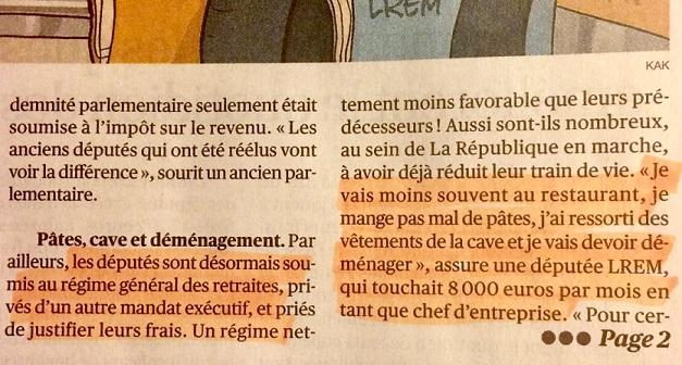 Députée se plaint de son salaire à 5000 €, L'Opinion - ThePrairie.fr