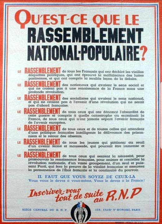 Qu'est ce que le Rassemblement national populaire - ThePrairie.fr !