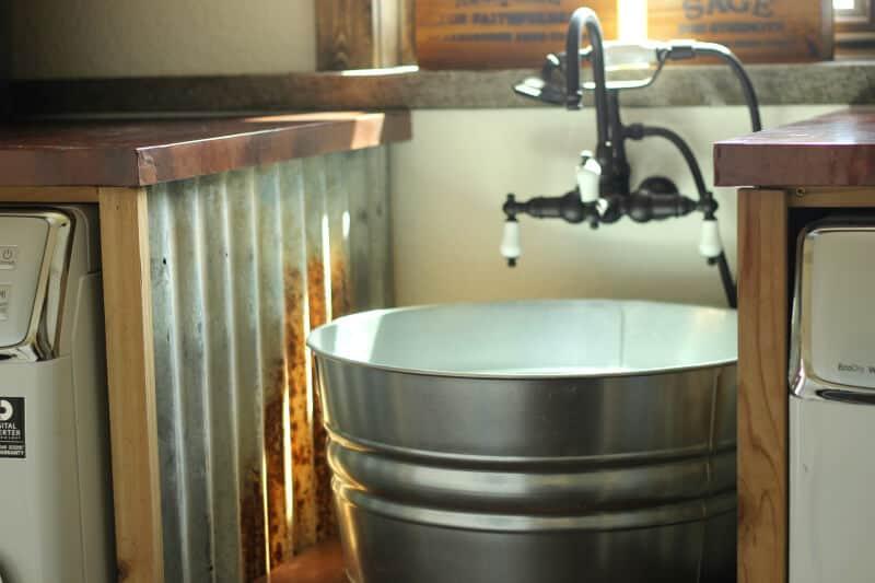 Diy Galvanized Tub Sink O The Prairie Homestead