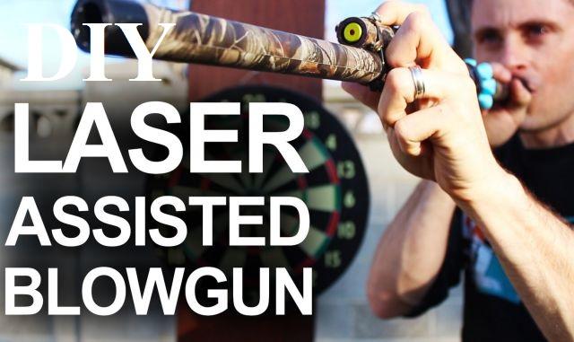 how to make a diy blowgun