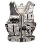 Tactical Crossdraw Military Cross Draw Vest w/Pistol Belt