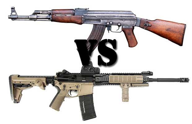 AK-47 versus AR-15