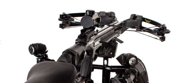 Black Ops from MotoPed comes with survival gear, including crossbow, already loaded.