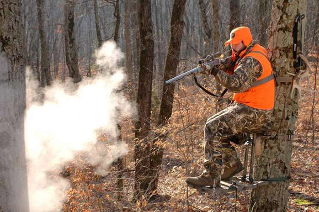 Stands can provide a stable platform with the advantage of high sight lines to shoot from.