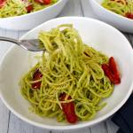 Pesto Spaghetti with Roasted Tomatoes