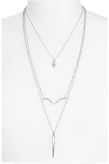 Nordstrom Layered Spike Necklace