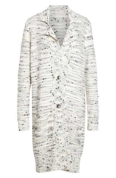 Nordstrom Signature and Caroline Issa Wool Cashmere and Silk Tweed Cardigan