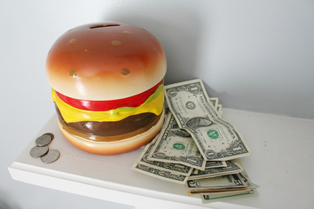 saving money on jenny craig and cheeseburger bank