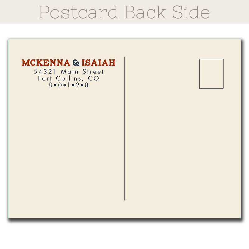 Lift Ticket Save-The-Date postcard - The Print Cafe - save date postcard
