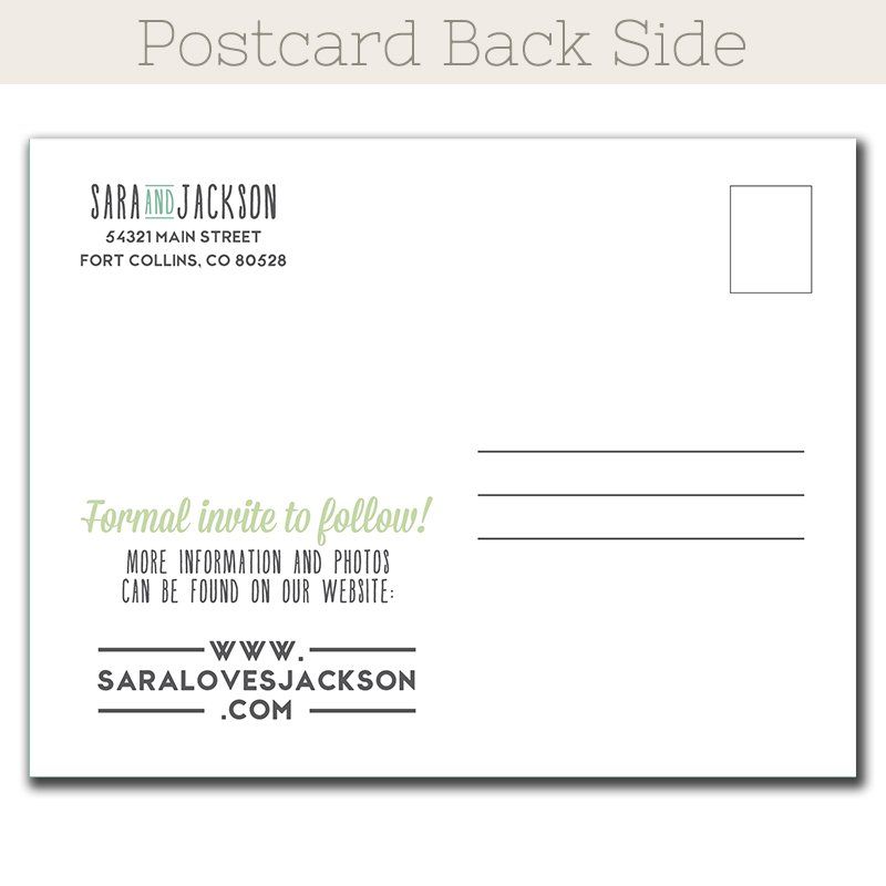 Simple Love Save-The-Date postcard - The Print Cafe - save date postcard
