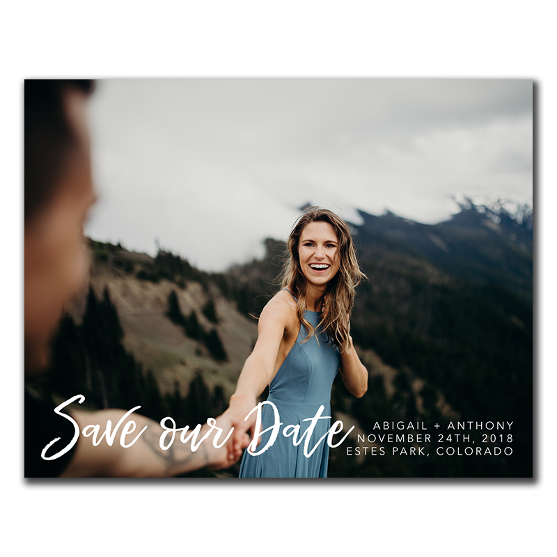 Loveline Save-The-Date Magnet/FunFlip - The Print Cafe