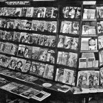 This newsstand (location unknown) displays pulps with cover dates of May and June 1935.