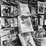 A variety of pulps were for sale at this newsstand in July 1935.