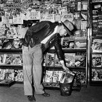 Pulps dated from late 1938 are on display on this magazine rack in San Antonio, Texas, in mid-October 1938.