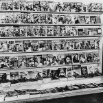 """Based on the """"Time"""" magazine cover in the lower left, this photo may have been taken in late April 1941. Several of the pulp magazines displayed on the rack have cover dates for May, June or Summer 1941."""