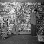 Here's another view of the same Southington, Conn., newsstand from late May 1942 displaying a wide variety of pulp magazines.