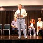 """The Pulpcon Players entertained Saturday night with a rendition of  """"Death Triangle,"""" an episode of The Shadow radio program, in honor of the character's 75th anniversary."""