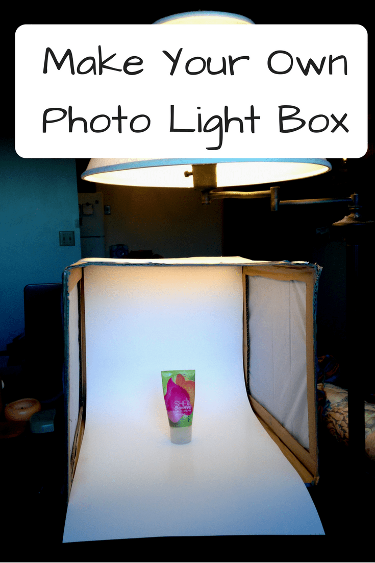 Make your own photo light box with stuff you already have