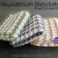 Houndstooth Dishcloth - Free Crochet Pattern