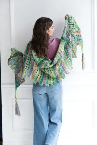 Broomstick Lace Shawl  Noro Magazine  The Purple Poncho