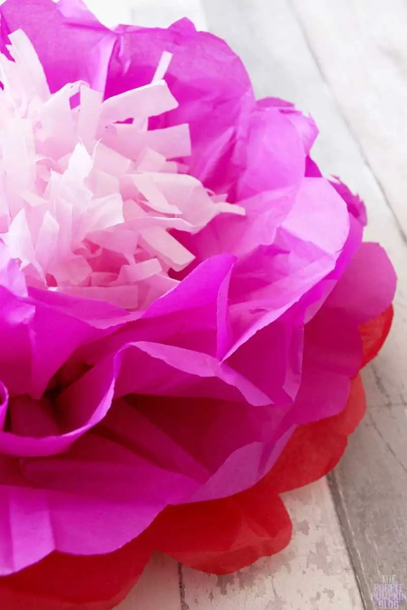 flower with tissue paper
