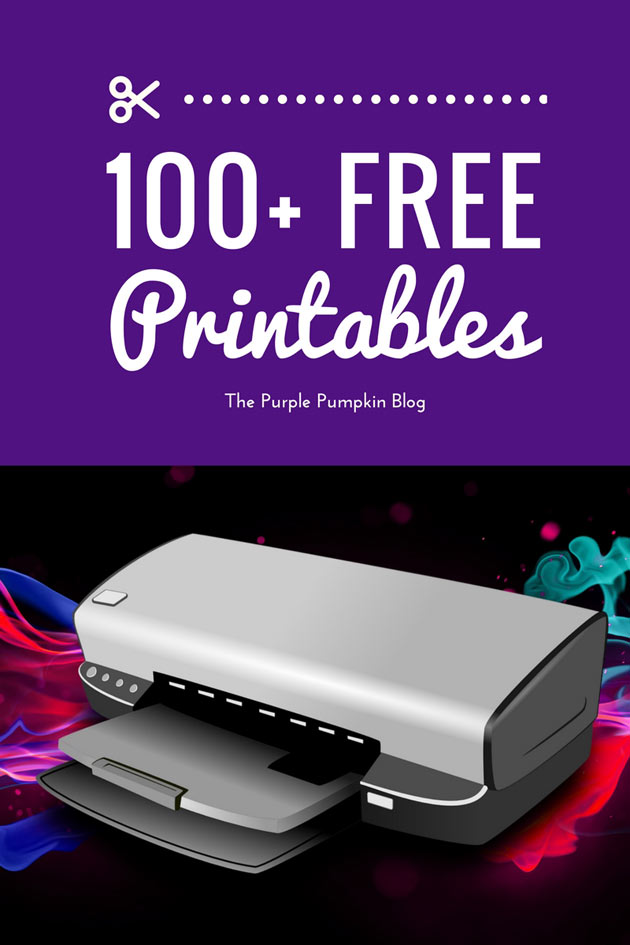 100+ awesome FREE PRINTABLES to download and print at home!