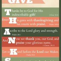 "Free Printable: ""Give Thanks"" Thanksgiving Scripture Art"