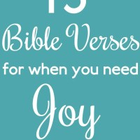 15 Bible Verses for When You Need Joy