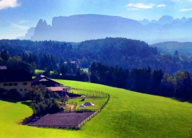 Dolomites from above the city of Bolzano - phot zoe dawes
