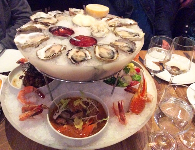 Fresh oysters and seafood at Boulevard Oyster Bar Vancouv