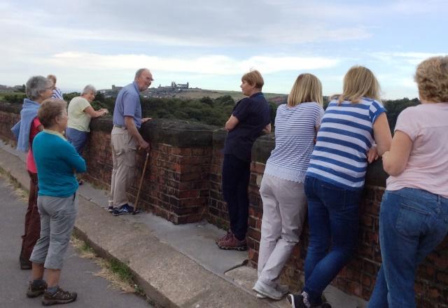 Hf Holidays walking group on Whitby Viaduct - photo zoedawes