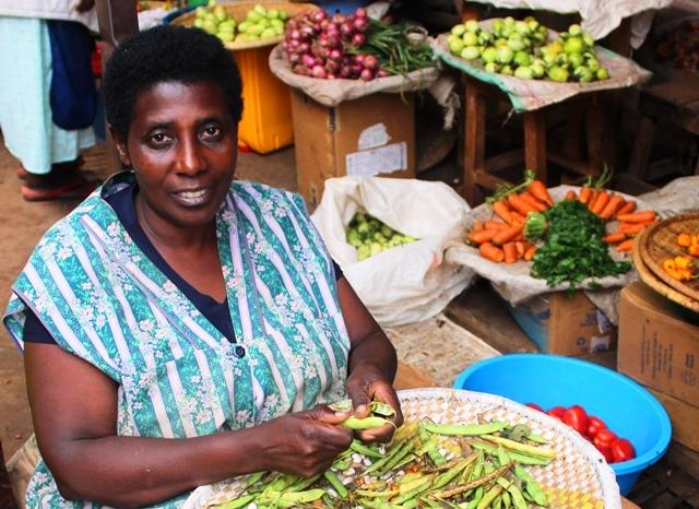 Woman in Kigali Market Rwanda - image zoedawes